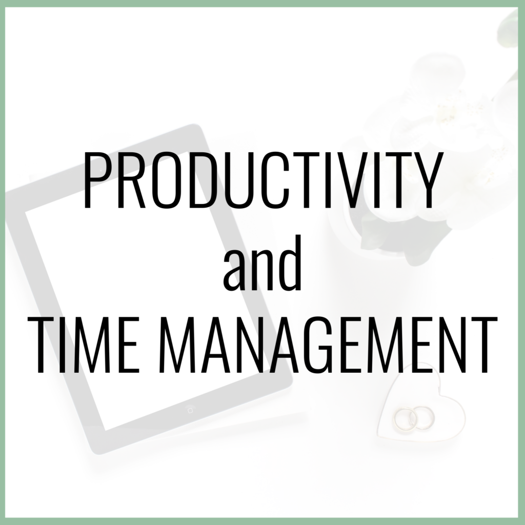 productivity and time management for moms
